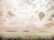 Large field of baked earth Stock Photos
