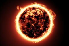 Large fire ball of the sun Royalty Free Stock Photos