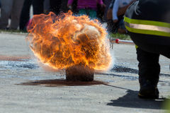 Large fire explosion Stock Images