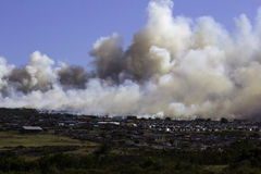 Large fire informal settlement Royalty Free Stock Images