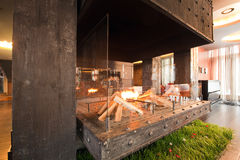 Large fireplace Stock Images