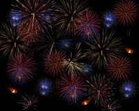 Large Fireworks Cluster Royalty Free Stock Photography