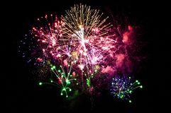 Large Fireworks Stock Images