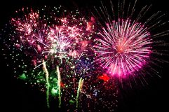 Large fireworks display event background Stock Photo