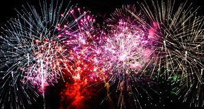 Large Fireworks Display event background. Beautiful A large Fireworks Display event background royalty free stock images