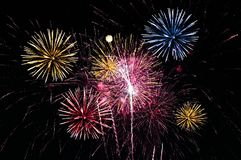 Large fireworks display event background. Beautiful large fireworks display event background royalty free stock photography