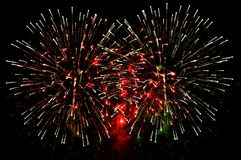 Large fireworks display event for background. Beautiful large fireworks display event for background stock image