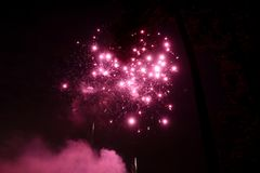 Large Fireworks Display event on the black sky. A large Fireworks Display event on the black sky background stock photo