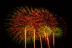 A large Fireworks Display event. Royalty Free Stock Photo