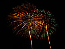 A large Fireworks Display event. Stock Photo