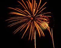 A large Fireworks Display event. Stock Photography