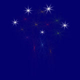 Large Fireworks Display - illustration. Large Fireworks Display on a blue background - vector illustration. Isolated Royalty Free Stock Photography