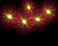 Large Fireworks Display. Illustration Royalty Free Stock Photo