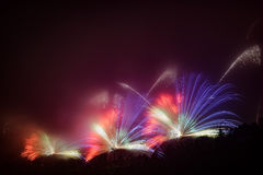 Large fireworks sparks Royalty Free Stock Photo