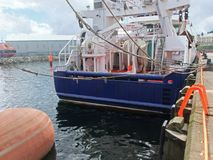 Large fishing trawlers at Killybegs Harbour Co. Donegal Ireland stock photography
