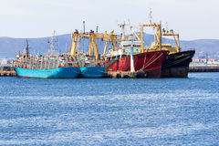 Large fishing vessels Stock Photography