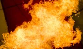 Large flame inside hot air balloon Stock Photos