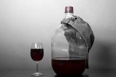 Large Flask Of Wine Stock Photo