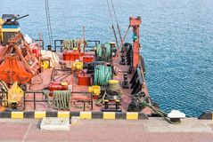 Large floating marine crane Royalty Free Stock Image