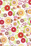 Large flowered pattern Royalty Free Stock Photography