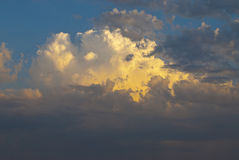 Large fluffy clouds Stock Image
