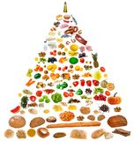 Large food pyramid Royalty Free Stock Photo