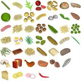 Large food and vegetable set Royalty Free Stock Photo