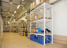 Large food warehouse Stock Photos