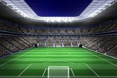 Large football stadium with lights Royalty Free Stock Photo