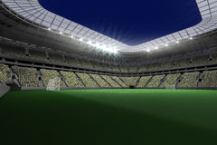 Large football stadium with lights Royalty Free Stock Photography