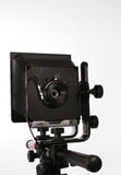 Large format Camera. A large format monorail bellows camera Stock Images