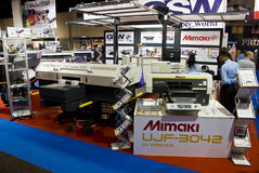 Large Format Digital Inkjet Printer - Mimaki. Large Format Digital Inkjet Printer on display from manufacturer, Mimaki. A business in Africa convention, Sign royalty free stock photos