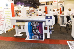 Large Format Digital Inkjet Printer - Xerox. Large Format Digital Inkjet Printer on display from manufacturer, Xerox. A business in Africa convention, Sign stock images