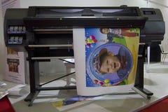 Large Format Digital Printer. Large format printer in action royalty free stock photos