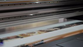 Large format inkjet printer stock video