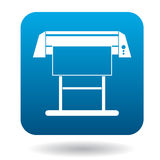 Large format inkjet printer icon in simple style. On a white background Stock Images