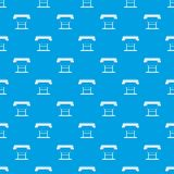 Large format inkjet printer pattern seamless blue. Large format inkjet printer pattern repeat seamless in blue color for any design. Vector geometric Royalty Free Stock Photos