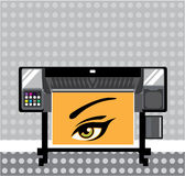 Large Format Printer. Illustration clip-art vector eps Royalty Free Stock Images