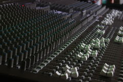 Large Format Sound Console. 40ch Large format live sound audio mixer Stock Images