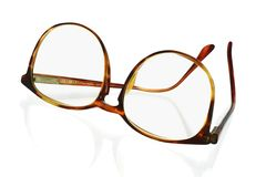 Large frame plastic spectacles Royalty Free Stock Image