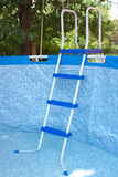 A large framework blue pool Royalty Free Stock Photo