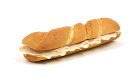 Large French bread sandwich Stock Photo