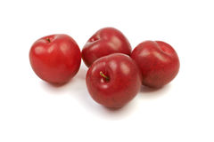 Large fresh ripe plums nectarines, healthy ingredient isolated o. N white background Royalty Free Stock Images