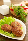 Large fried cutlets Royalty Free Stock Photo