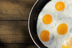 Large fried egg Royalty Free Stock Photography