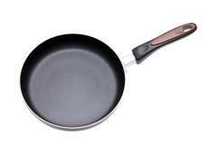 Large frying pan. Isolated on white background Stock Photos