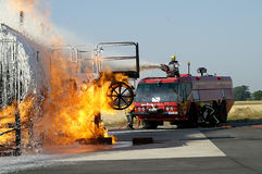 Large fuel fire Royalty Free Stock Photography