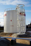 Large fuel tank at oil storage Royalty Free Stock Images