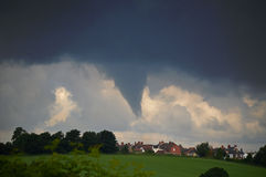 Large Funnel Cloud Midlands UK 25.6.16. Large Funnel Cloud over Inkersall Green, Chesterfield, Midlands UK 25.6.16 royalty free stock image