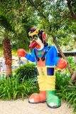 Large Funny Colorful Sculpture of Clown in Park Stock Photography